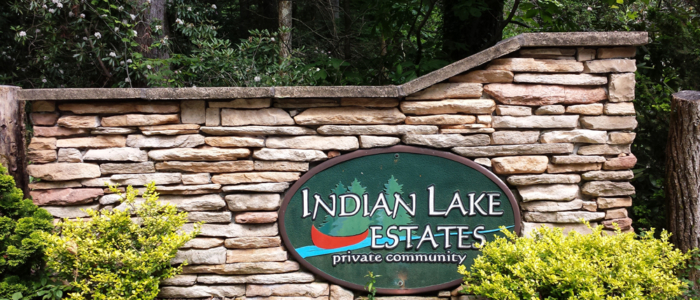 Indian Lake Estates Entrance sign